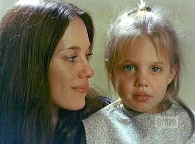 Angelina and her mother Marcheline Bertrand.