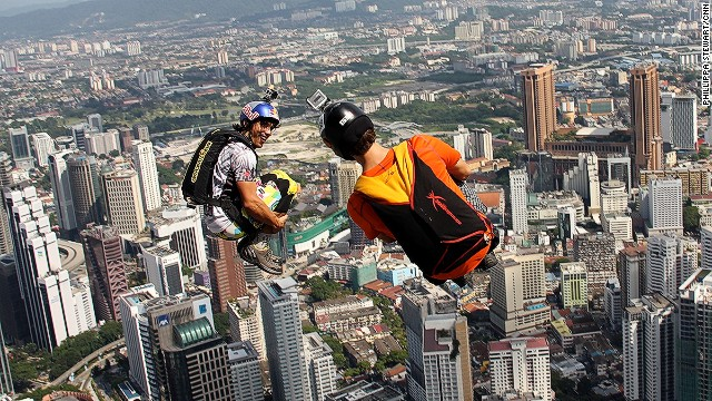 """For the uninitiated, BASE jumping refers to the four points a jumper can jump from, """"Building"""", """"Antenna"""", """"Span"""" and """"Earth"""""""