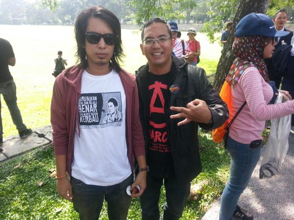 Adam Adli seen at the Malaysian BAR Council march to protest against the Sedition Act