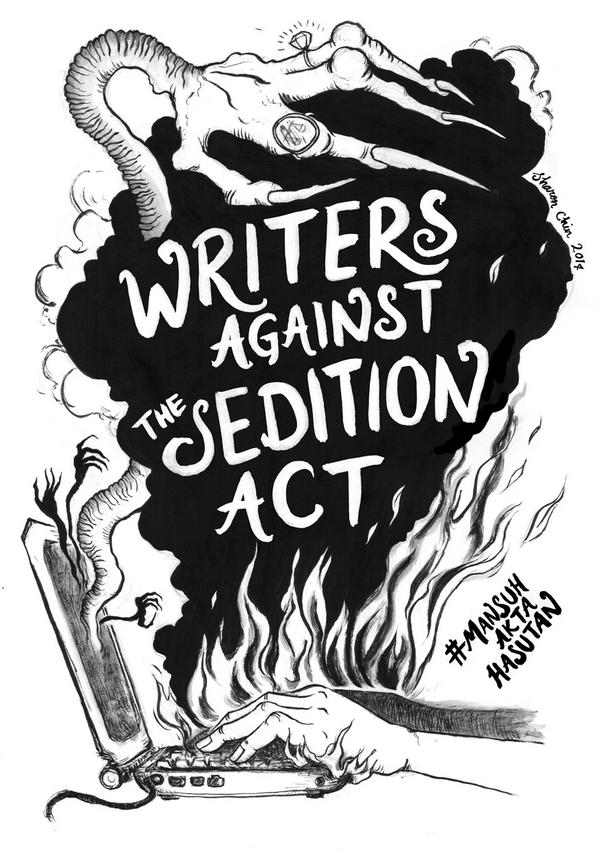 Writers against the Sedition Act artwork