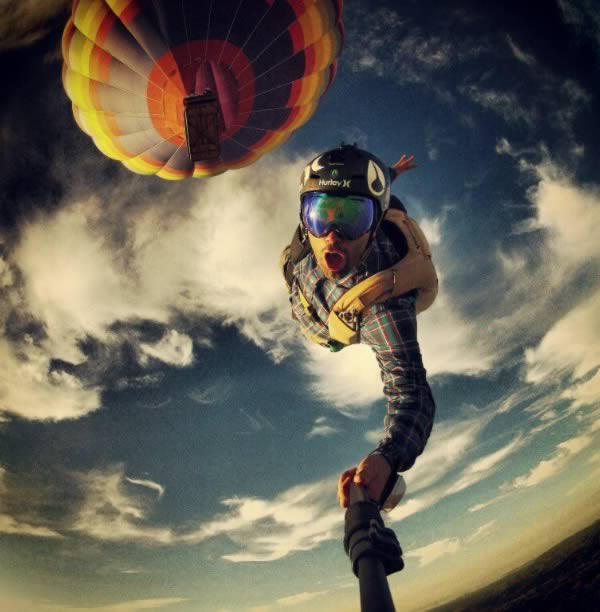 Selfies in the sky