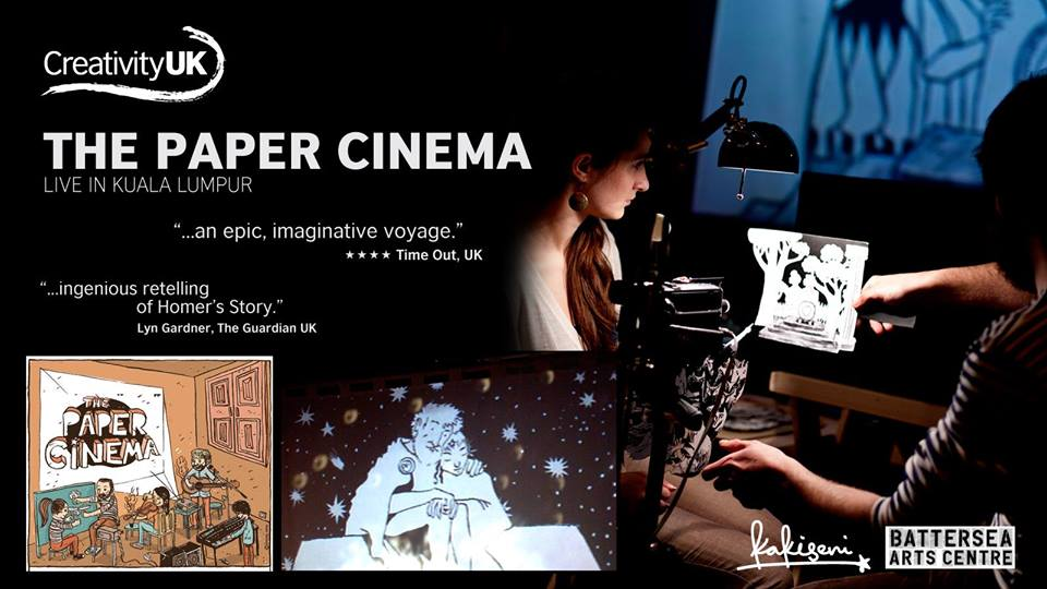 Image from Facebook: The Paper Cinema's Odyssey