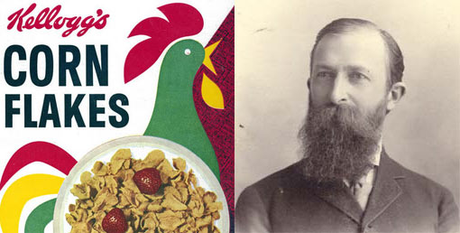 Dr. John Harvey Kellogg, the co-inventor of flaked cereal