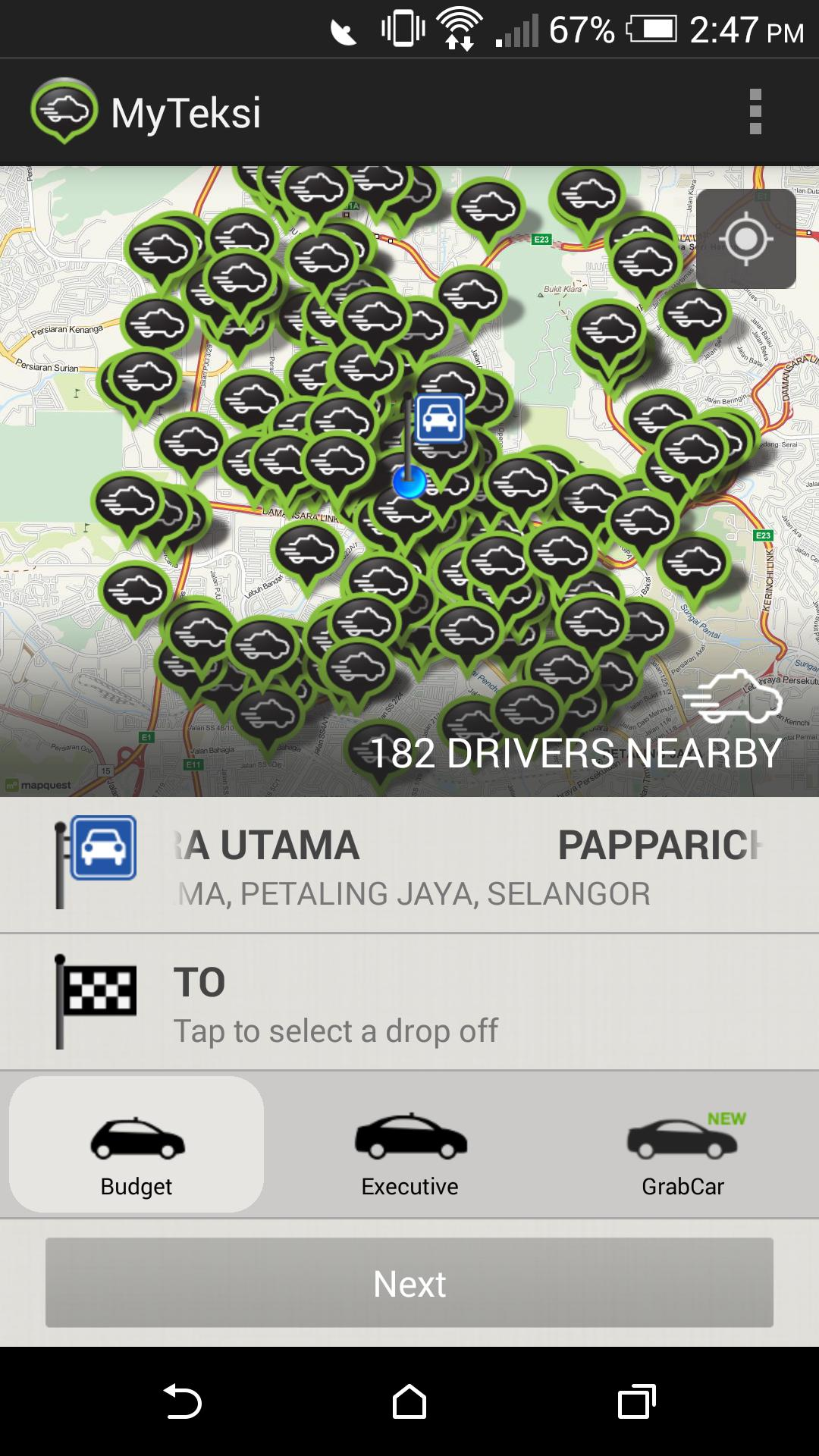 All the information you need is displayed all in one page, making it easy for a passenger to book a taxi.