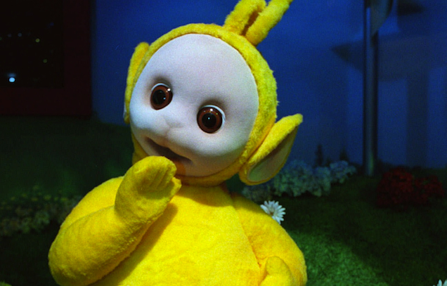 A Yellow Teletubby Stole Chinese Food And Dumped It Into