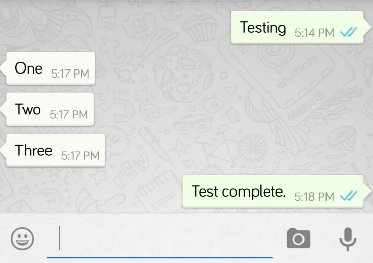 If you have been observant today, you may have noticed that the double ticks next to your messages are now coloured blue
