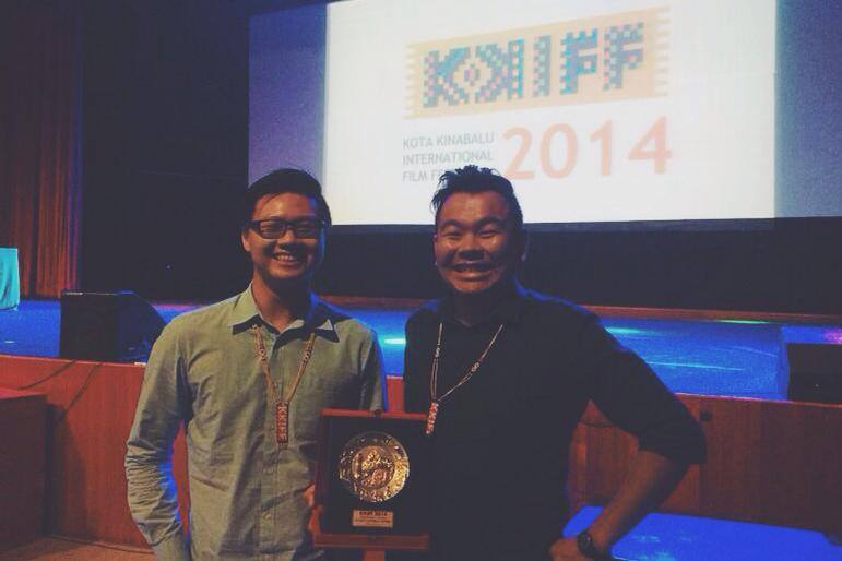 Jon and Ben-Ji winning the Gold Award at KKIFF 2014.