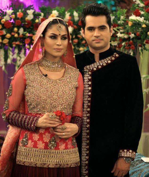 Veena Malik along with her husband