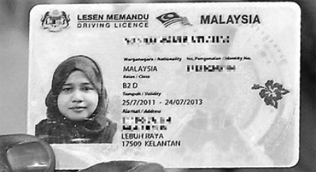 The new driving licence features details printed in Bahasa and Melayu and English to allow for international recognition.