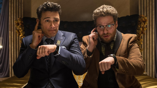 James Franco and Seth Rogen in a scene from The Interview
