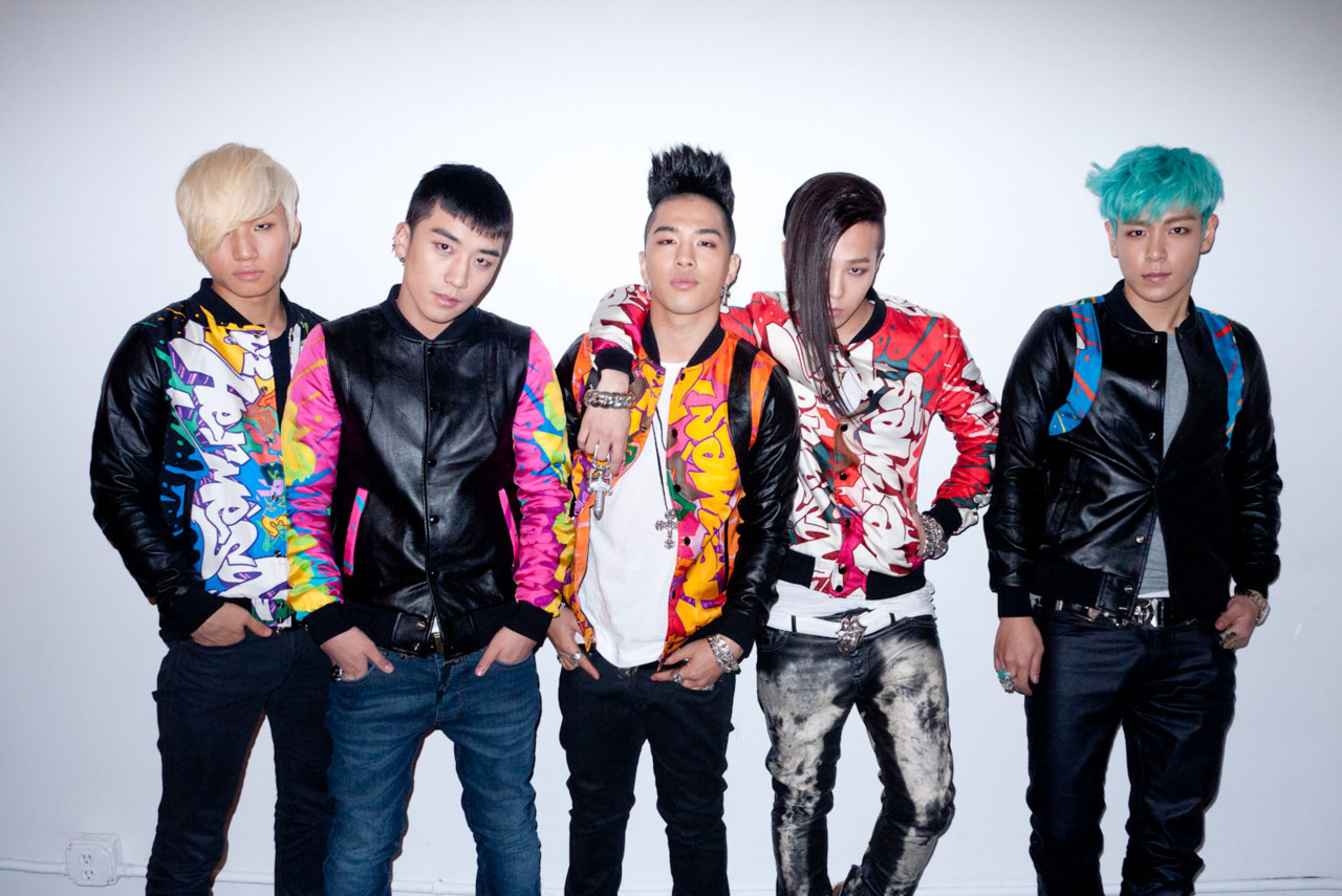 Big Bang (from left): Daesung, Seungri, Taeyang, G-Dragon, and T.O.P