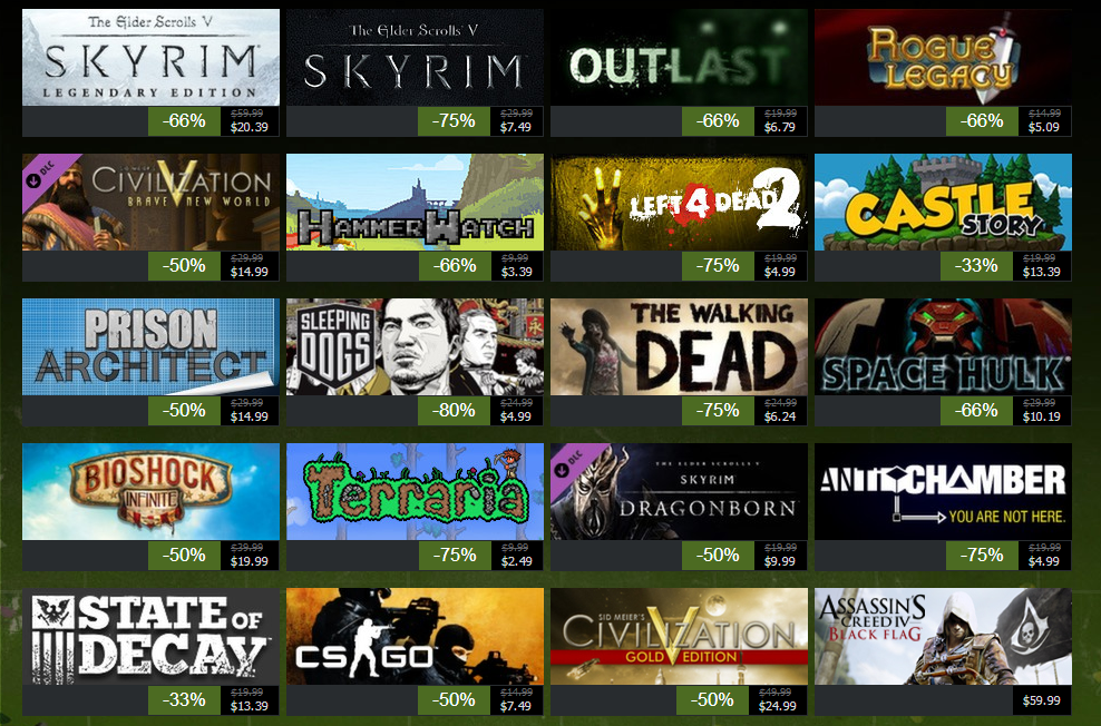 Steam, a digital store for games is also making games more accessible and available for the masses.