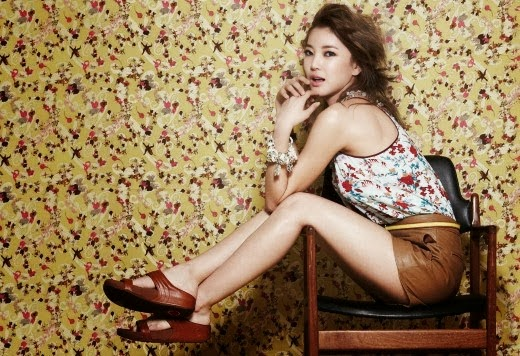 Singer NS Yoon-G wearing FitFlops for a photo shoot back in 2012.