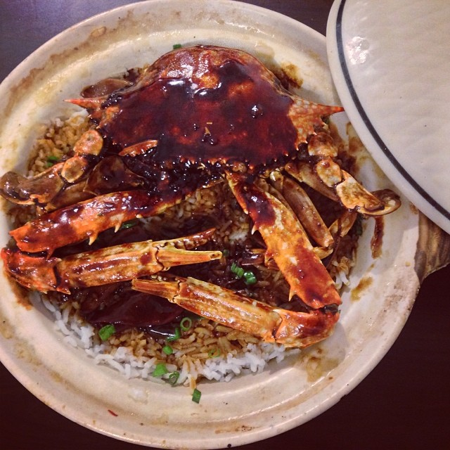 Claypot Crab Rice.