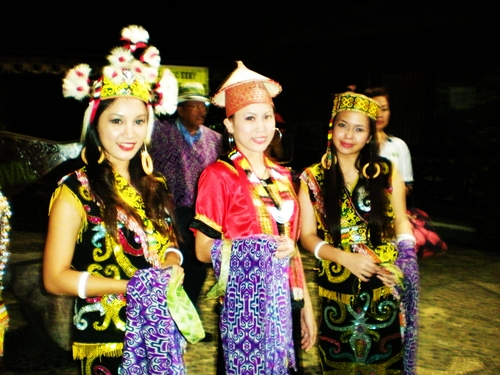 Traditional costumes of the Papar Kadazan.
