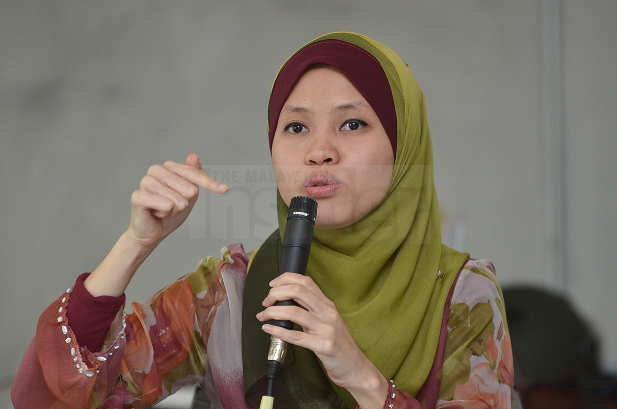 Constitutional lawyer Firdaus Husni speaks during a forum on human rights and the Malaysian transgender community in Kelana Jaya.