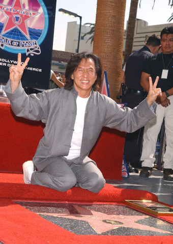 Jackie Chan Honored with Star on Hollywood Walk of Fame