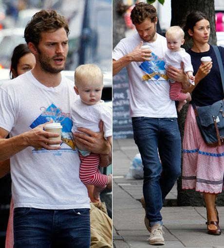 Amelia Warner with husband Jamie Dornan and youngest daughter