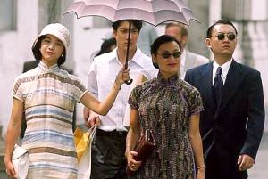 From left: Tang Wei, Wang Lee Hom and Joan Chen during the filming of 'Lust, Caution' in Penang.