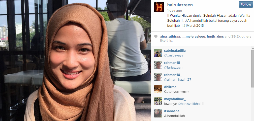 Image from Instagram Hairul Azreen