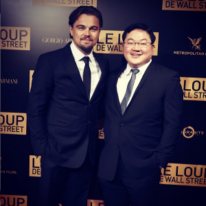 Jho Low and Leonardo DiCaprio at the Wolf of Wall Street premiere.