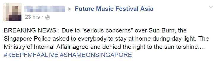 Image from Facebook: Future Music Festival Asia