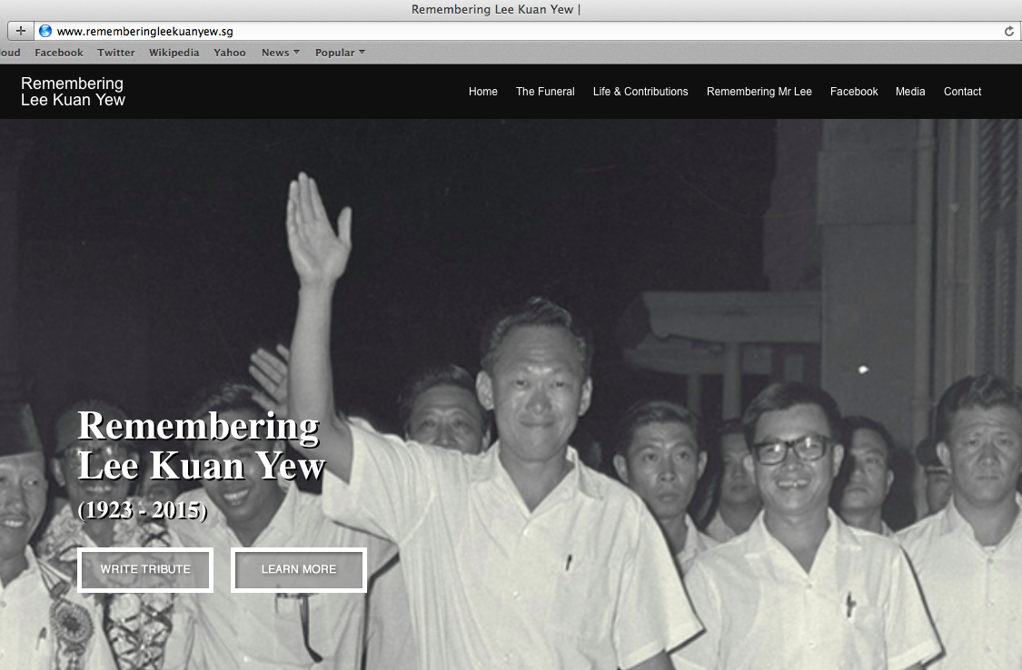 RememberingLeeKuanYew.com has been set up to pay tribute to the man who built Singapore.