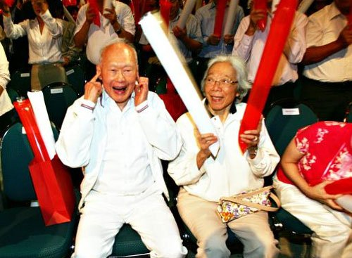 The late Lee Kuan Yew and Kwa Geok Choo