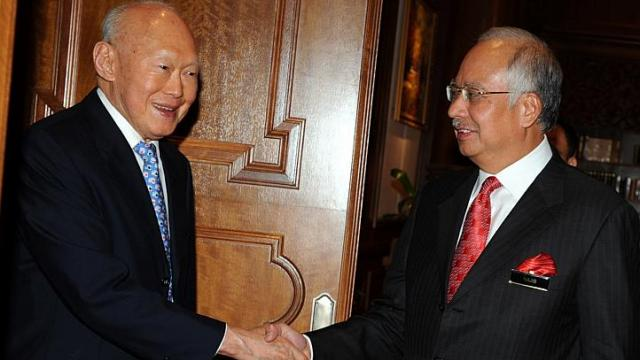 Mr Lee Kuan Yew called on Malaysian Prime Minister Najib Razak at the administrative capital of Putrajaya, 9 June, 2009.