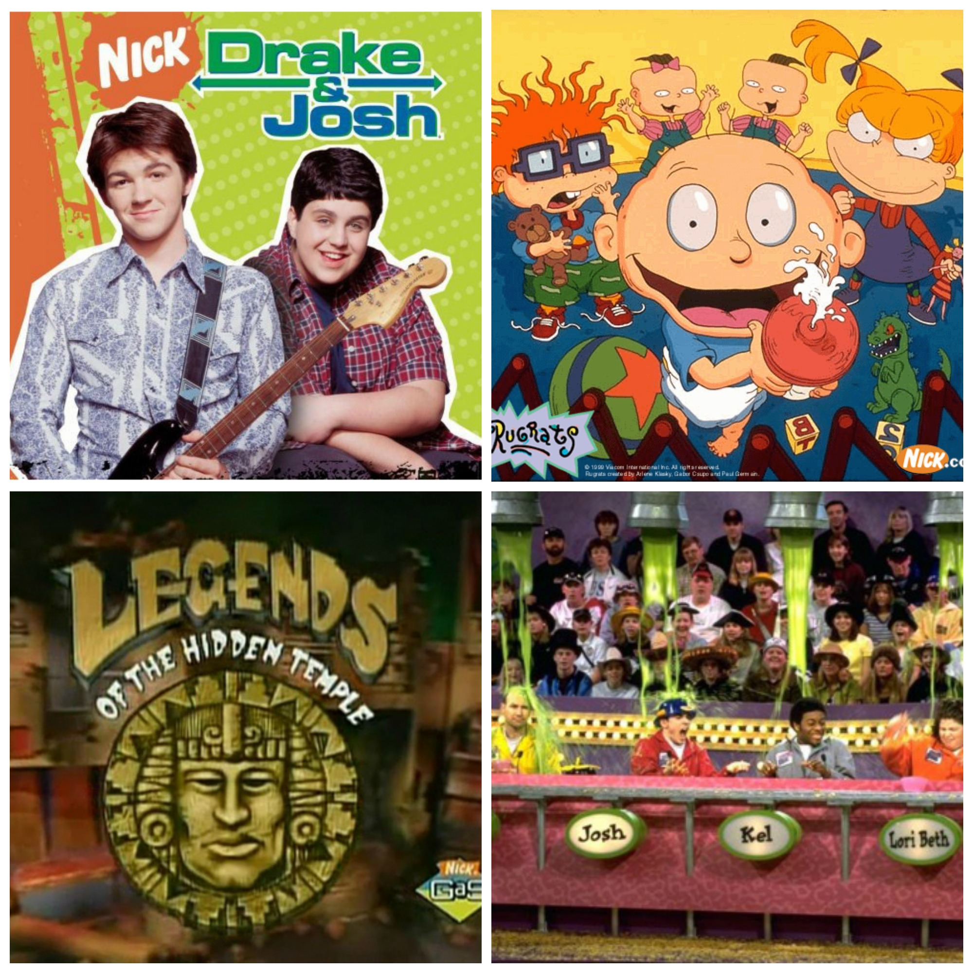 'Drake and Josh', 'Rugrats', 'Legends of The Hidden Temple' dan 'Figure It Out'