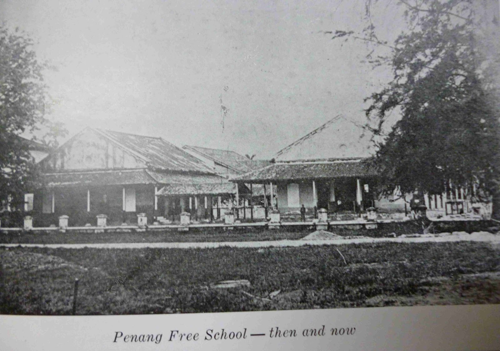 Penang Free School, old venue in 1816.
