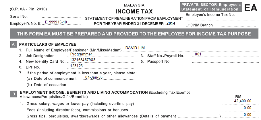 Borang Tp1 The Lesser Known Tax Relief Form Your Employer Did Not