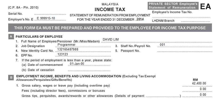 how to fill borang e 2014 borang tp1 the lesser known tax