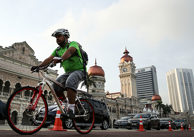 The bike path project is part of Kuala Lumpur's tourism plan to showcase the Malaysian capital as a developing city that promotes healthy living.