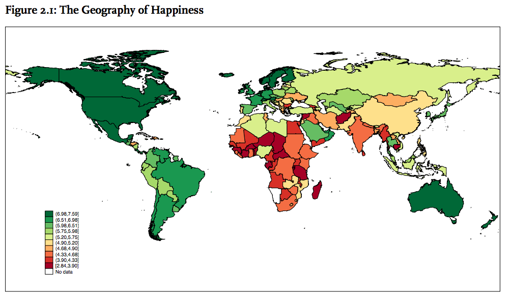Image from World Happiness Report 2015