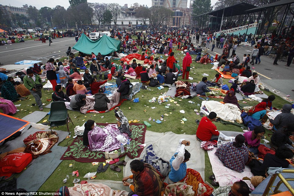 In the capital city, thousands are camping in the streets for fear of more tremors from the earthquake's aftershock. This morning it measured 6.9 on the Richter Scale.