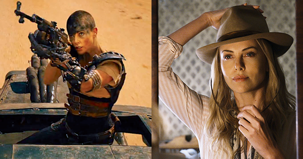 Charlize Theron in 'Mad Max: Fury Road' (left) and 'A Million Ways To Die In The West' (right)