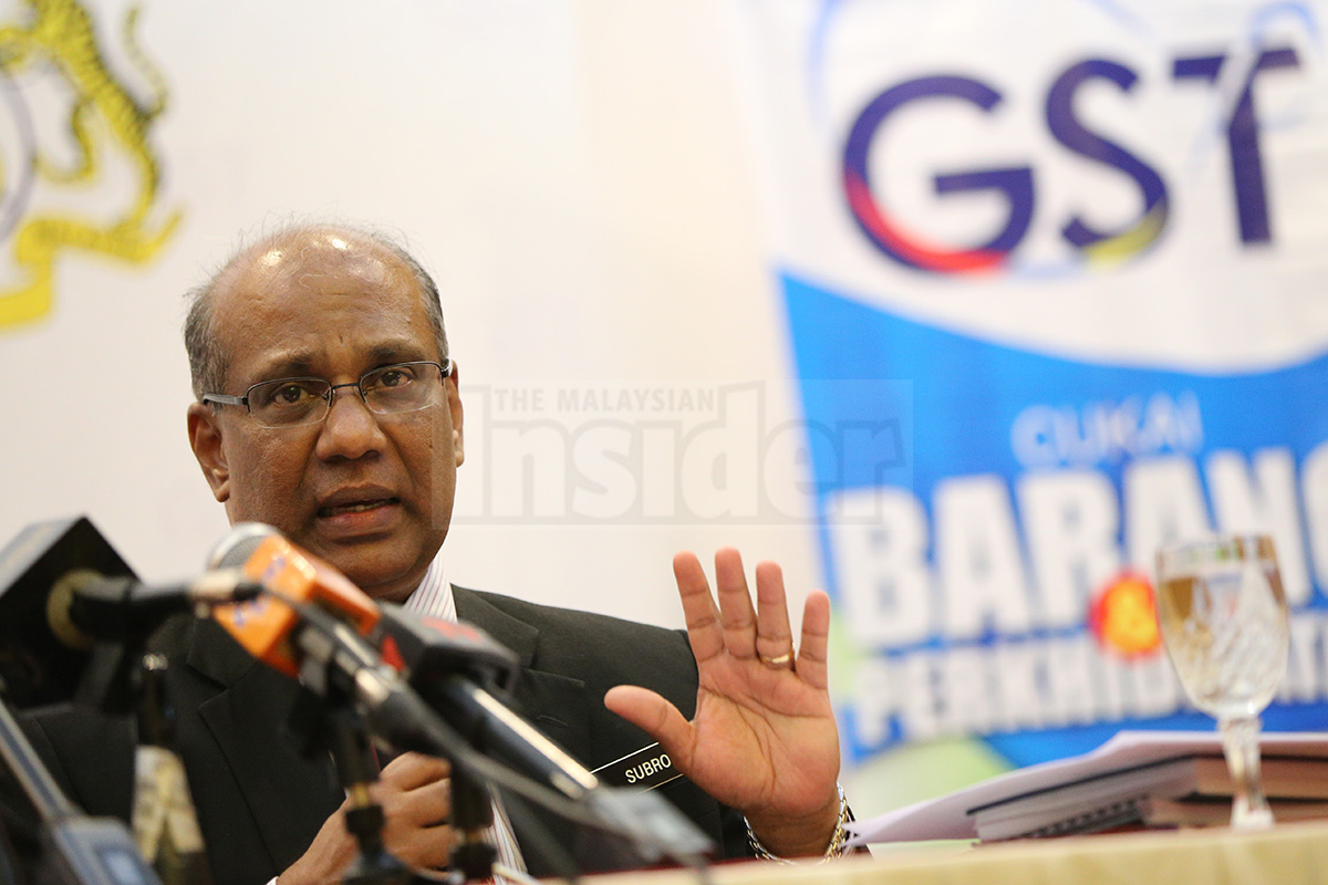 All tools and equipment for persons with disabilities (OKU) have been granted relief from the Goods and Services Tax (GST), says Customs Department GST director Datuk Subromaniam Tholasy.