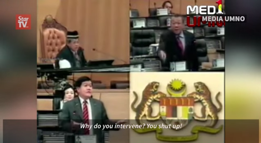 Screencap from 'Bung Moktar Blows His Top' video.