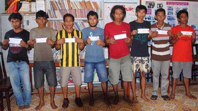 The eight suspects in the hijacking of Malaysian oil tanker MT Okim Harmony
