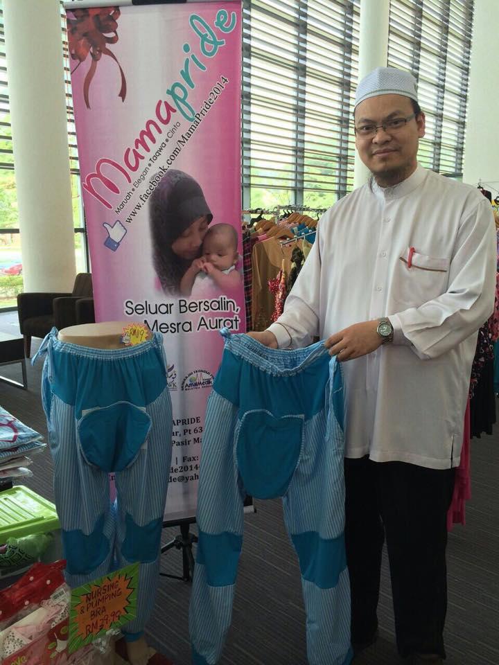 Ustaz Dr Zaharuddin Abd Rahman turut menyokong perniagaan seluar bersalin MamaPride.