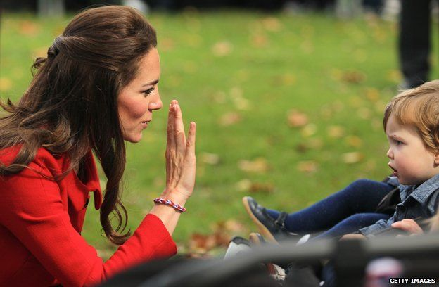 The Duchess of Cambridge wearing a loom band.