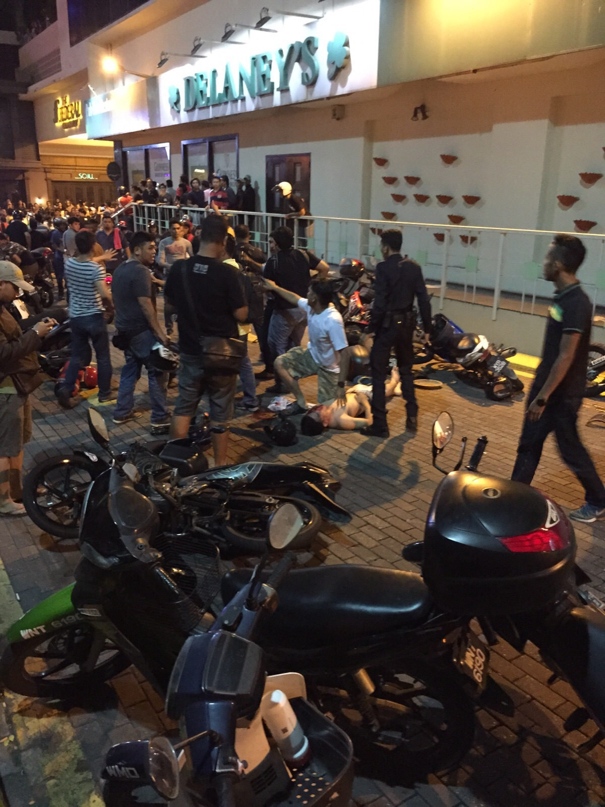 A scene outside the Low Yat Plaza.