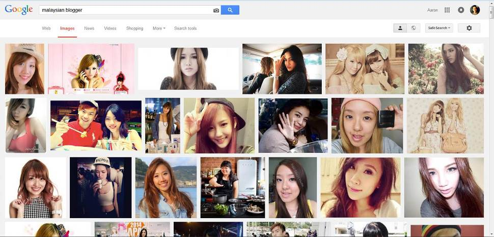 "Google Image Search for ""Malaysian Blogger"". The only guy here is famous for a sex video."