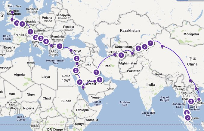 Their balik kampung journey will chart 38 countries, 75 days and 28,646km across 2 continents.