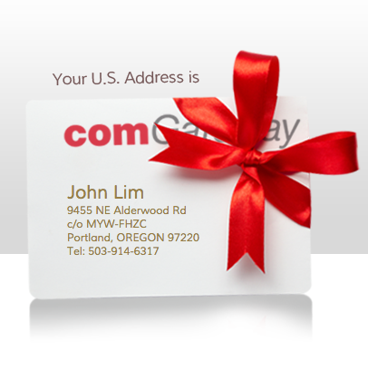 Your very own USA address provided by ComGateway.