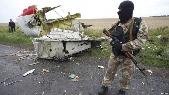 Pro-Russian rebels control the area where the MH17 crashed.