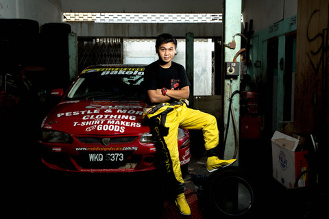 Kenneth Koh with his ride.