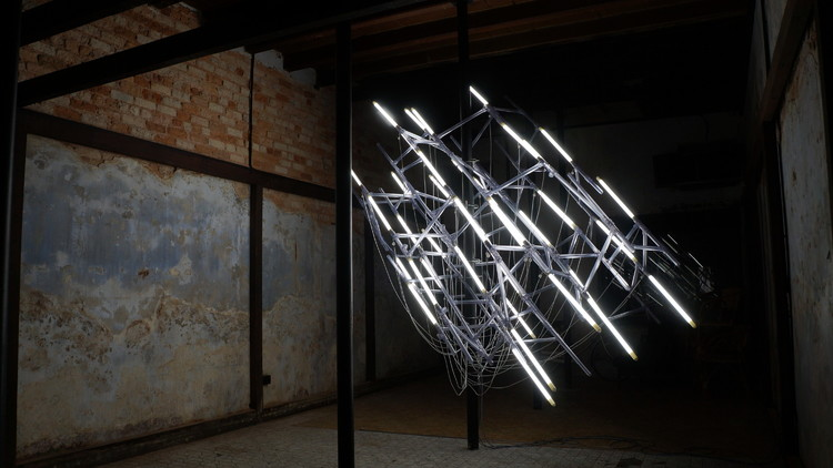 Jun Ong's lighting installation made up of Philips LED tubes as part of George Town Festival 2015.