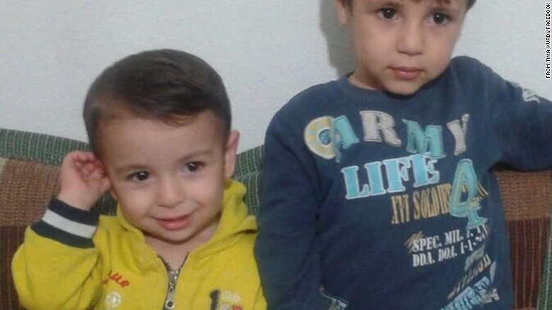 Aylan with his elder brother Ghalib who died with him on the same shore the same morning.